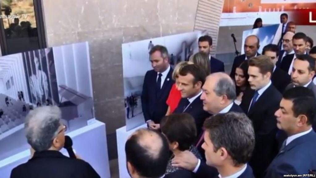 Էմմանուել Մակրոնը և Արմեն Սարգսյանը այցելել են Շառլ Ազնավուրի անվան մշակույթային կենտրոն