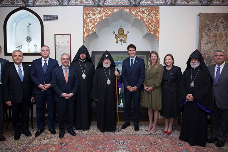 Ամենայն Հայոց Կաթողիկոսն ընդունեց Կանադայի վարչապետին