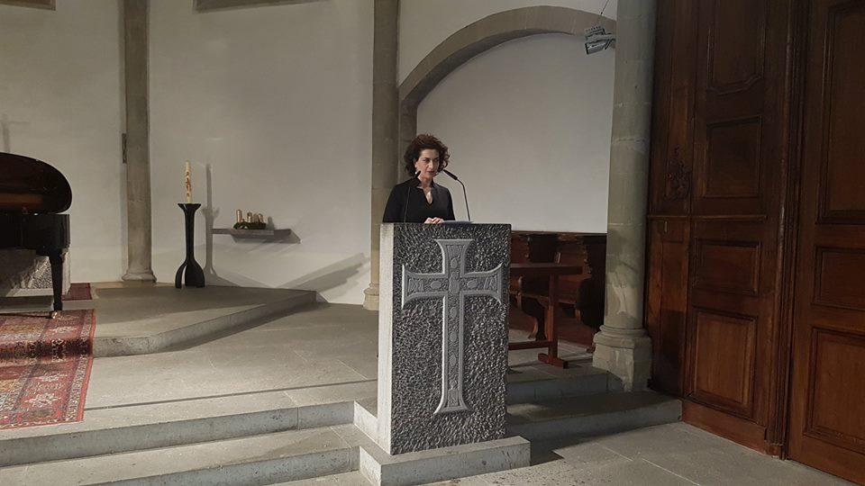 В Женеве Анна Акопян приняла участие в концерте, который был посвящен 30-летию землетрясения в Армении