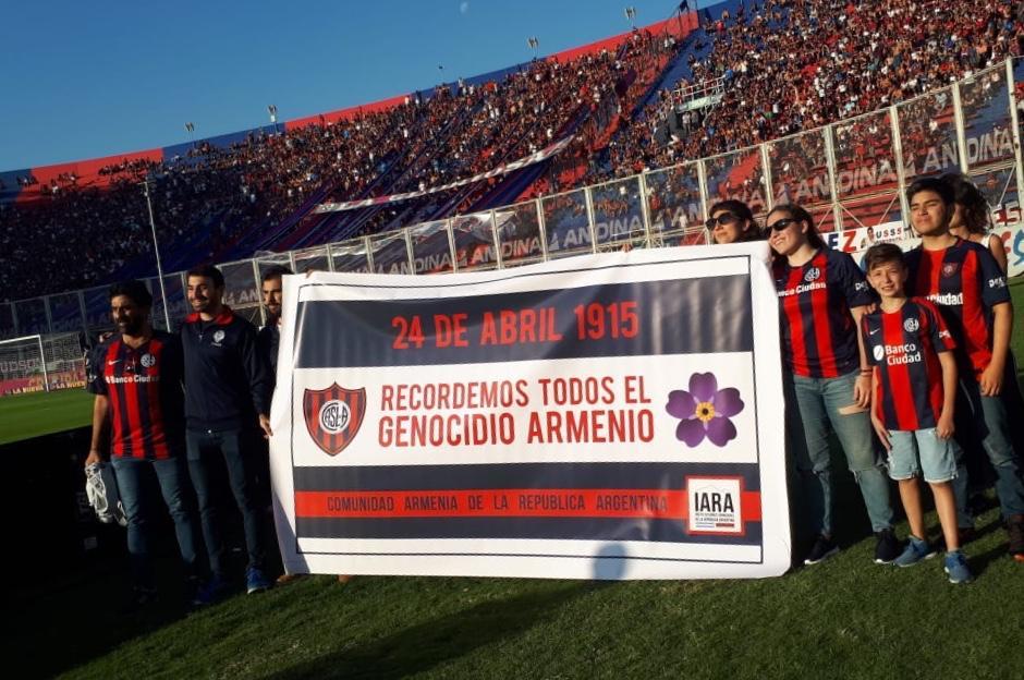 Геноцид армян помнят в Сан-Лоренцо. Ривер-Плейту брошен вызов