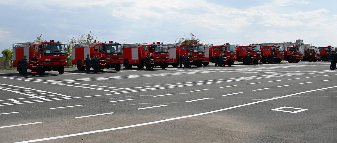 Япония предоставила Армении безвозмездно спасательную технику на 16 млн. долларов. Фоторяд