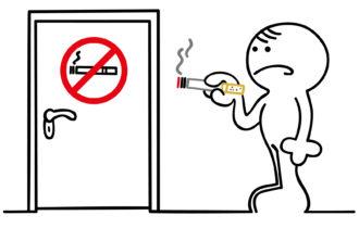 figur vor rauchverbot