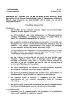 Ժնևի քաղաքային խորհուրդը ճանաչել է Լեռնային Ղարաբաղի հայերի ինքնորոշման իրավունքը